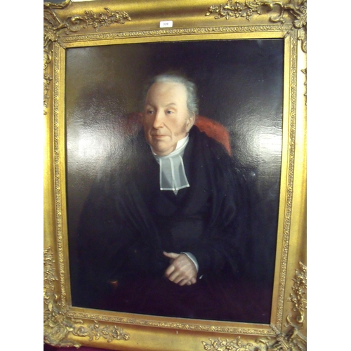 126 - 19th/ Early 20th C portrait of a gentleman (69cm x 89cm) in ornate gilt frame...