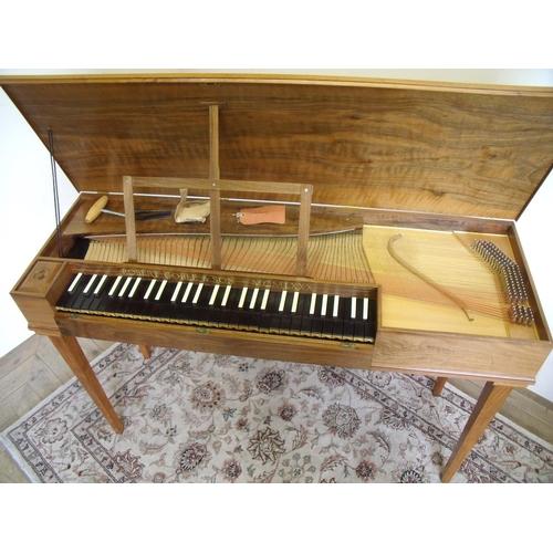 276 - Modern walnut cased Robert Goble & Son 1980 clavichord (width 120cm)...