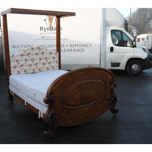 246 - Modern double half tester bed...
