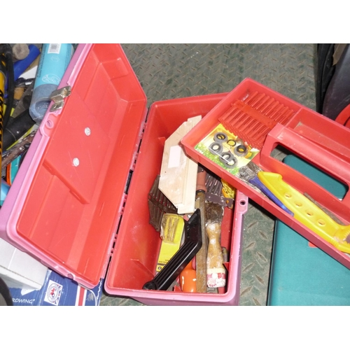 16 - Small toolbox containing a small selection of tools...