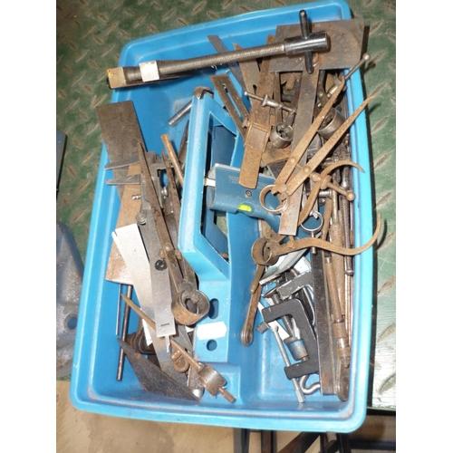 23 - Box of various measures, gauges etc...