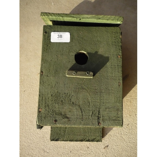 38 - Handmade bird box...