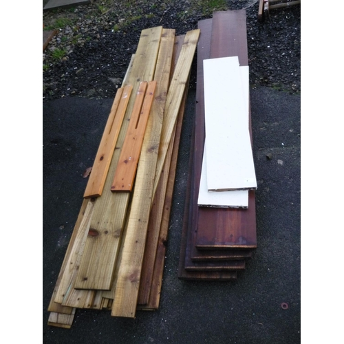 4 - Selection of various wooden planks...