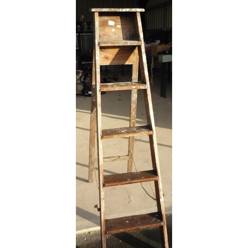 41 - Set of wooden step ladders...