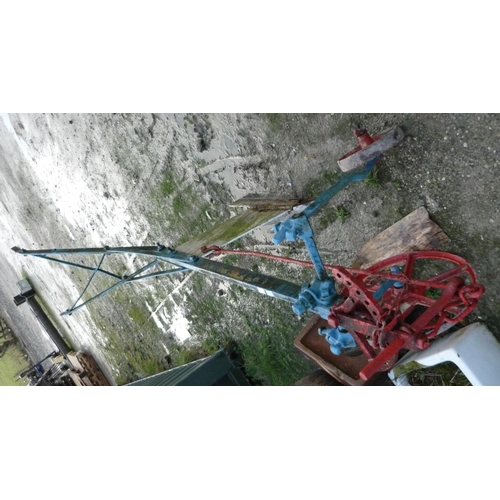 43 - Large vintage single furrow plough...