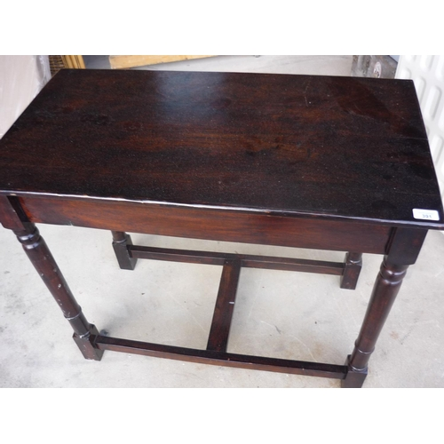 391 - Electric panel heater, rectangular occasional table on turned supports and a folding card table (3)...