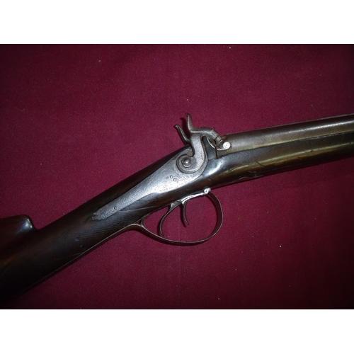 686 - Percussion cap double barrelled shotgun by Samuel Nock circa 1835, with 29 1/2 inch barrels, back ac...