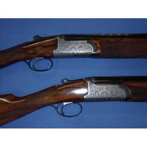 789 - Cased pair of custom made John MacNab Highlander 20 bore over & under round action ejector shotguns ...