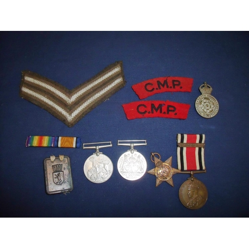 1 - 1939-45 Star, War & Defence Medal, George V Faithful Service Special Constabulary Medal awarded to J...