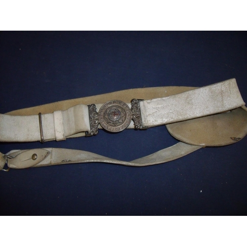 106 - Victorian Border Regiment 2nd Volunteer Battalion officers waistband and clasp circa 1887-1900, with...