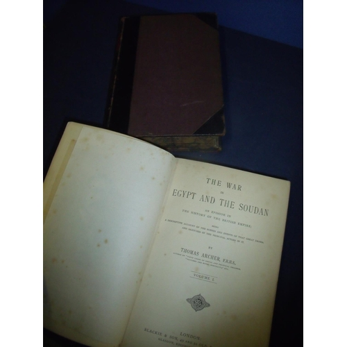 317 - The War in Egypt and The Soudan in two half leather bound volumes...