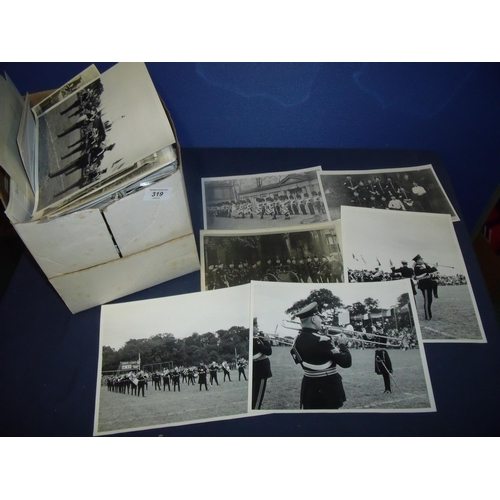 319 - Collection of various military historian/ researchers photographic archive photographic prints etc f...