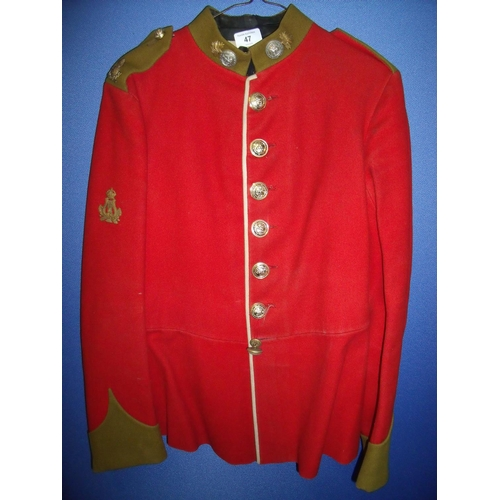 47 - Pre Great War Northumberland Fusiliers tunic with later added buttons...