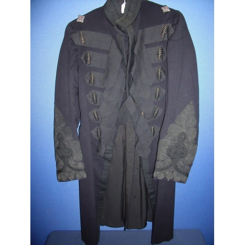 53 - Victorian 2nd Lieutenants full length frock coat dress uniform with lined interior and internal leat...