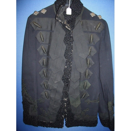 54 - Victorian officers frock jacket with wool cuffs, collar and border trim, with epaulettes for a Lieut...