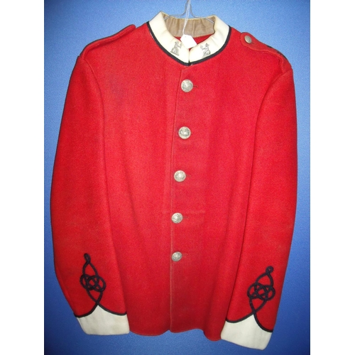 55 - Victorian Norfolk 4th Volunteer ORs tunic with white cuffs & collar, with associated collar dogs and...