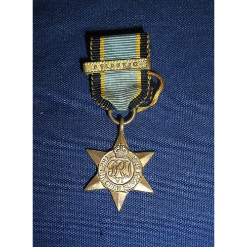 6 - WWII miniature medal Air Crew Europe Star with Atlantic clasp...