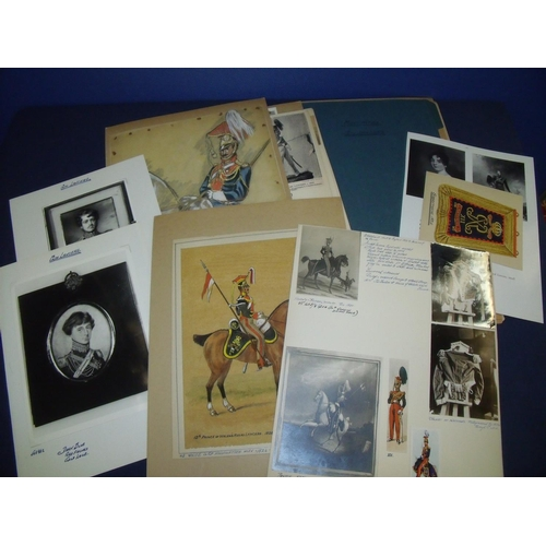 70 - Large collection of military historian/researchers material including albums/folders, photographs, c...