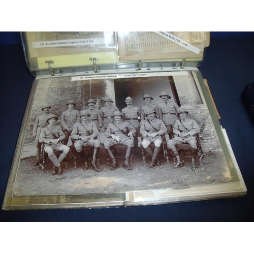 71 - Extremely large and extensive album of mostly Victorian military related photographs for various reg...