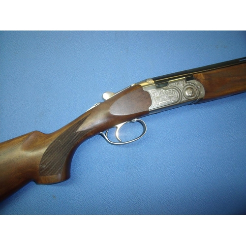 788 - Cased as new Beretta 20 bore over and under ejector Silver Pigeon shotgun, with 28 inch multi choke ...