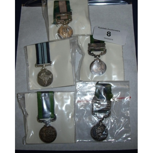 8 - Group of various miniature medals including George V India GSM, another George V GSM with Northwest ...