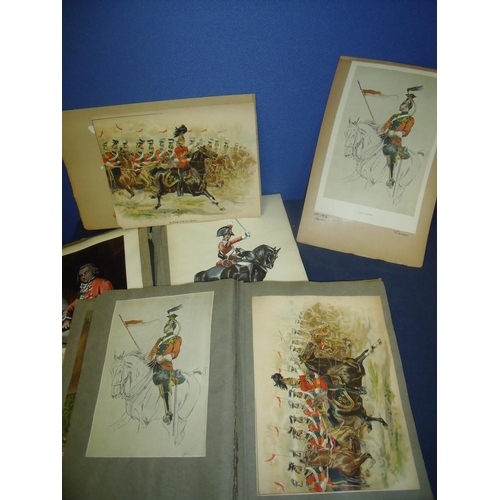97 - Two large albums of military historian/researchers material relating to the 5th & 16th Lancers inclu...
