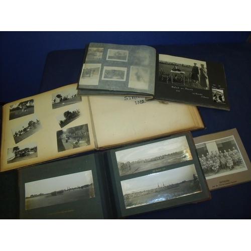 98 - Four photograph albums including souvenir album 2nd Battalion York & Lancaster Regiment, Presentatio...