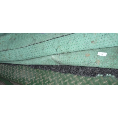 15 - Two large rolls of marquee flooring carpet...