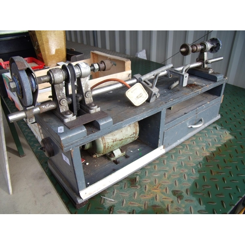 2 - Small electric woodworking lathe...