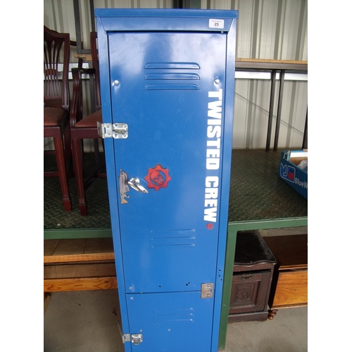 25 - Metal locker converted to a gun cabinet (for air weapons only)...