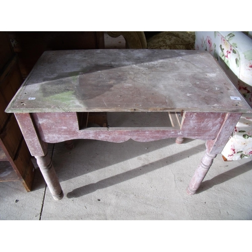 26 - Small side table suitable for a potting shed or greenhouse...