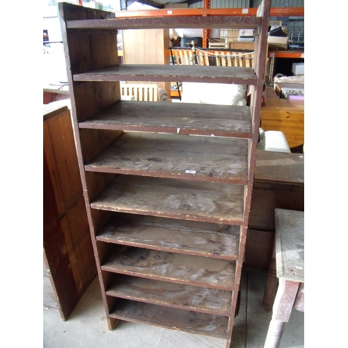 27 - Wooden shelving unit suitable for a shed...