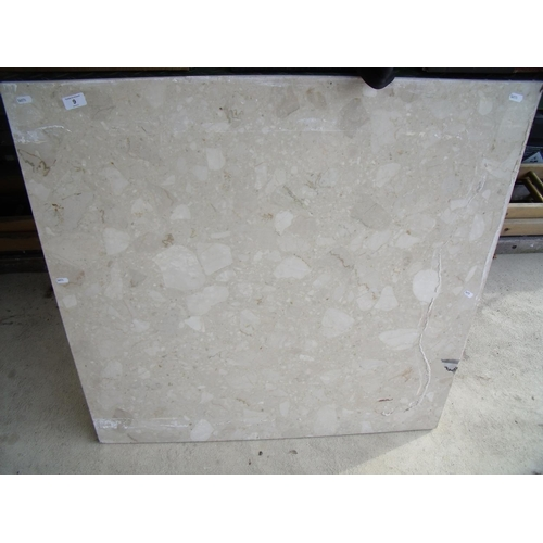 9 - Large square piece of marble...