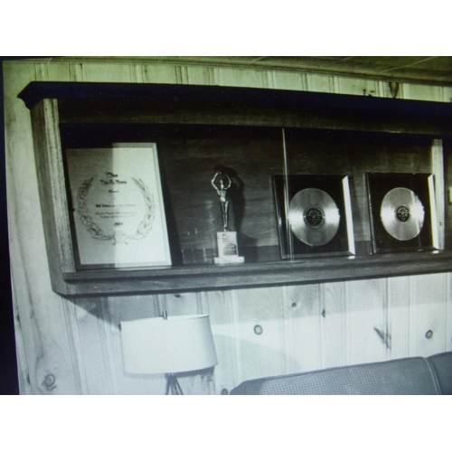 176 - Original Cash Box Award presented on behalf of the American Music Industry of America to Bill Haley ...