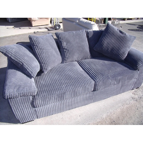 386 - Nearly new large two seat sofa (width 215cm)...