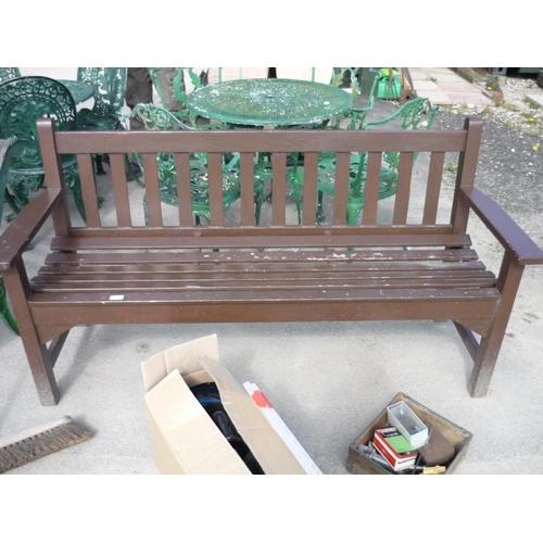 22 - Wooden garden bench...