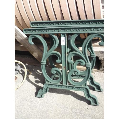 28 - Wrought iron legs for a garden seat...