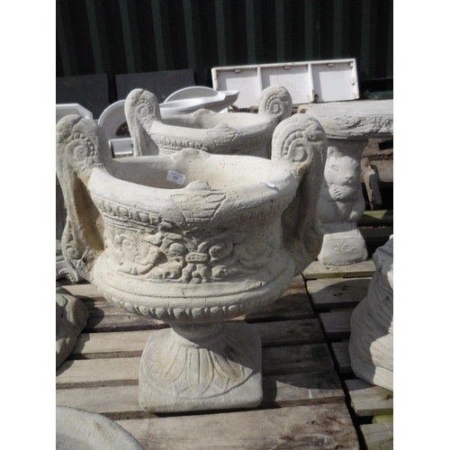 17 - Large decorative two handled urn (2)...