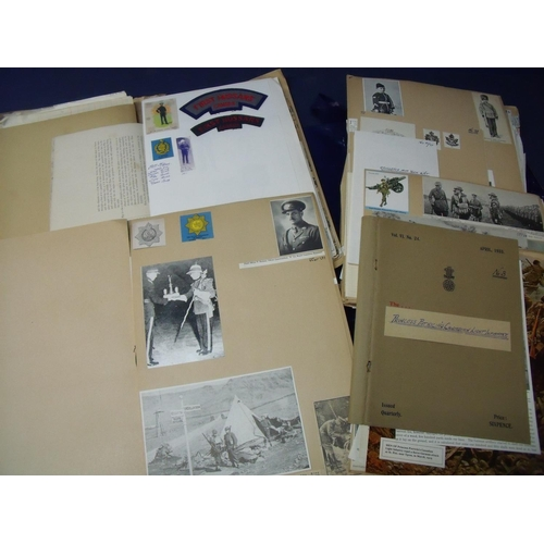 46 - Collection of military historians/researchers (DP&G Military Publishers) material including various ...
