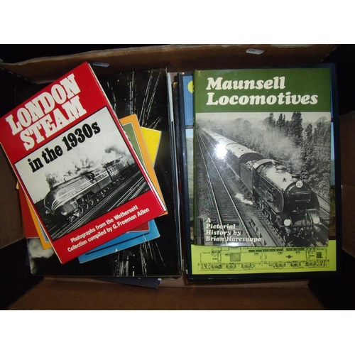38 - Box of various railway related books, booklets etc...