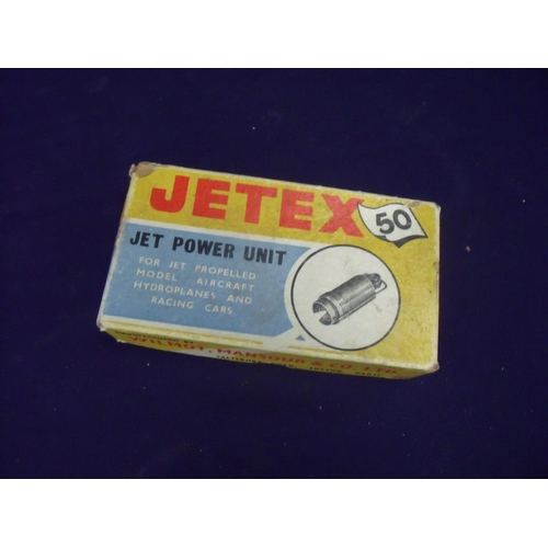 141 - Boxed Jetex 50 jet power unit for jet propelled model aircraft, hydroplanes and racing cars...