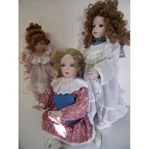 184 - Three dolls from the Ashton-Drake Galleries including Katrina 1992, Brigitte 1993 & Peaches & Cream ...