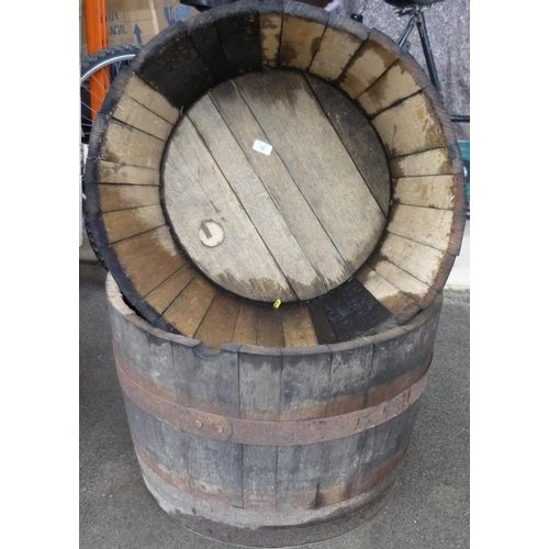 78 - Two Coopered half barrells...