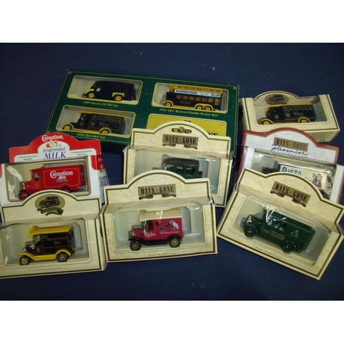 104 - Twenty two boxed diecast vehicle sets, mostly commercial vehicles including Days Gone and Ringtons T...