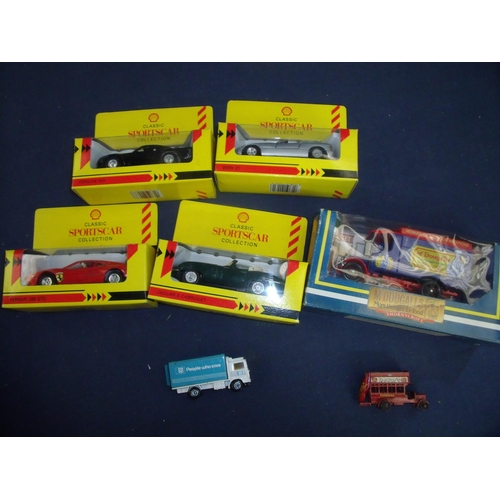 109 - Collection of mostly boxed diecast collectors vehicles including Shell Classic Sports Car Collection...