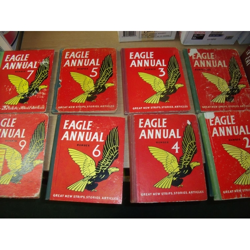 118 - Collection of twenty three Eagle annuals, various volumes from the 1960s and 1970s...