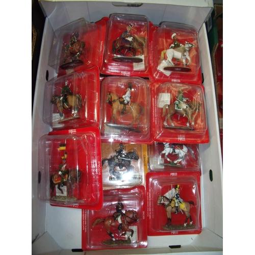 123 - Twenty boxed Del Prado Napoleonic era mounted figures sealed in boxes...