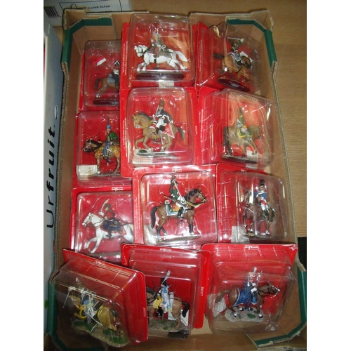 124 - Twenty boxed Del Prado Napoleonic era mounted figures sealed in boxes...