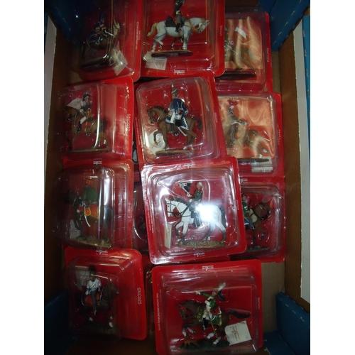 126 - Twenty boxed Del Prado Napoleonic era mounted figures sealed in boxes...