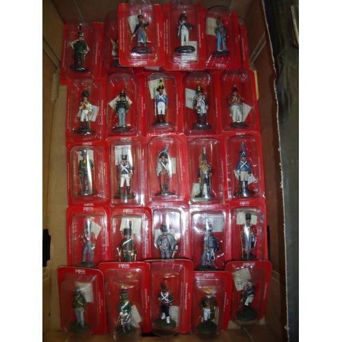 129 - Twenty six boxed and unsealed Del Prado Napoleonic era unmounted figures...